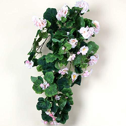TLC Geranienhänger 65 cm rosa künstlich Geranie Hänngegeranie Balkon 34380 wie echt