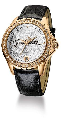Just Cavalli EASY CALLIGRAPHY JC R7251167745 - Reloj de mujer de cuarzo, correa de piel color negro
