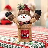 lzn 1pcs Christmas Snowman / Santa Claus Linen Candy Box Xmas Candy Jar Bottle for Kids Gift Christmas Supplies