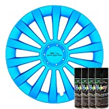 KandyDip® Sprühfolie Frozen Blue Flüssiggummi Felgenfolie Spraydosen Sets+2K, (1x Basis +1x Effekt, Matt)