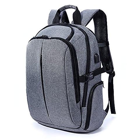 Rucksack Schulrucksack Alltagsrucksack Damen Herren Wasserdicht Daypack mit Laptopfach bis zu 17 zoll für Uni Reisen Campus Business, Grau
