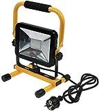 Chilitec LED-Baustrahler, 30 W, mit Ständer, IP44 Schutzklasse Gehäuse / IP44 Schutzklasse Netzstecker, 220-240V LED-Strahler, LED-Flutlicht 2200 Lumen