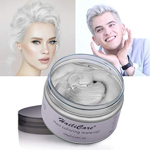 Cera capelli, hailicare colore capelli temporaneo bianco crema colorante per capelli naturale e idratante per uomo e donna