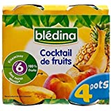 Cocktail Blédina De Fruits (6 Mois) 4 X 130G - Paquet de 2