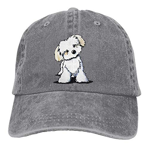 KKAIYA Cute Maltese Puppy Dog.PNG Unisex Baseball Cap Printed Adjustable Snap Back Hat (Ear Cap Dog)