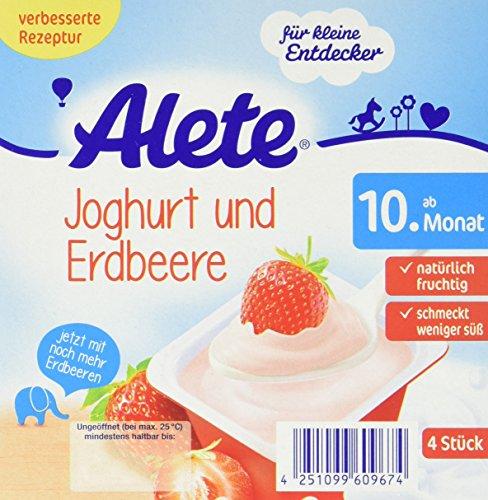 Alete Joghurt und Erdbeere, 6er Pack (6 x 400 g)