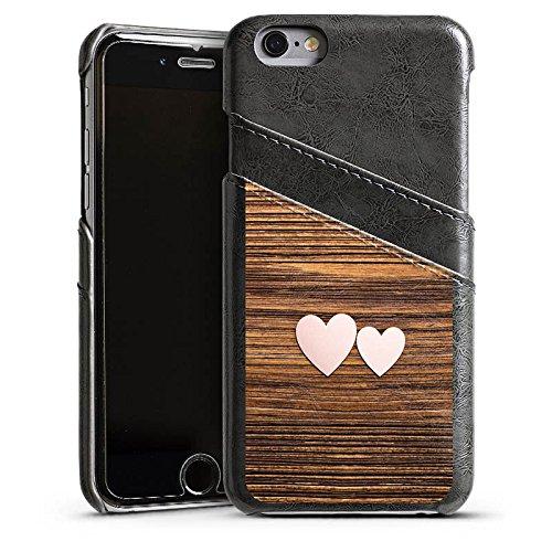 Apple iPhone 4 Housse Étui Silicone Coque Protection C½ur Amour Amour Étui en cuir gris