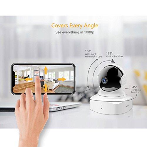 YI Überwachungskamera WLAN IP Home Kamera 1080P Schwenkbar Sicherheitskamera mit Nachtsicht 2 Wege Audio Bewegungserkennung Baby Monitor für iOS/Andriod Fernbedienung