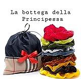 Pensierini Ragazza Set 10 Scruncies in velluto con Borsetta Portascruncies in tessuto con riporti Tartan motivo Burberry