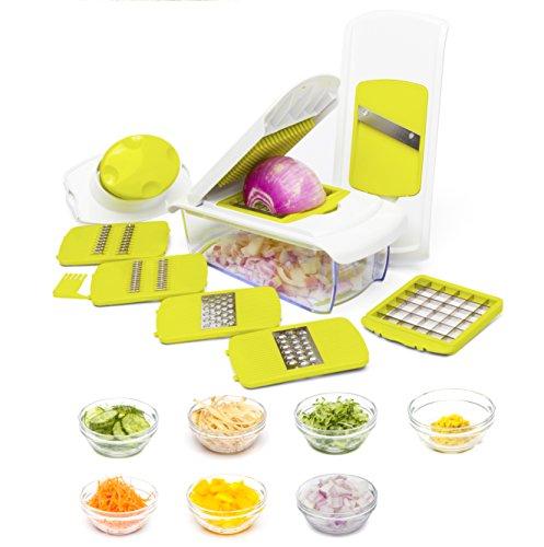 iRayer Zwiebel-Zerhacker Pro Gemüse-Zerhacker von Mueller - Stärkste - Keine MEHR TRÄGT 30% Heavier Duty Multi Gemüse-Obst-Käse-Zwiebel-Chopper-Dicer-Küche Cutter (Gemüse Chopper Dicer)