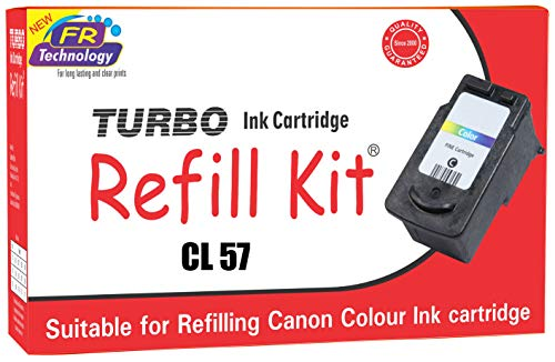 TURBO INK CARTRIDGE REFILL KIT for Canon CL 57 Tricolour