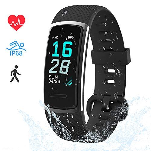 LIFEBEE Fitness Armband, Fitness Tracker mit Pulsmesser Smartwatch Wasserdicht IP68 Fitness Uhr sportuhr Aktivitätstracker, Damen Herren 0.96 Zoll Schrittzähler Smart Watch Uhr für Android iOS