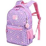 Vbiger Rucksack Mädchen Rucksack Kinder Schulrucksack Kinderrucksack Schultasche für mädchen 3-6 Klasse Lila