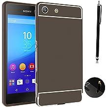 Funda Espejo Aluminio Metal Carcasa para Sony Xperia M5 Color Negro
