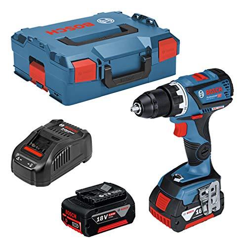 Bosch Profesional GSR 18V-60 C Atornillador a Batería Gama Dynamic, 2 baterías x 5.0 Ah, 18 V, en L-BOXX, azul