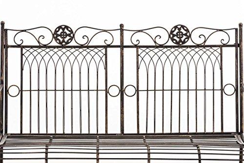 CLP Metall Gartenbank PURUSHA, 2-Sitzer, Landhaus-Stil, Eisen lackiert, Design nostalgisch Bronze - 3