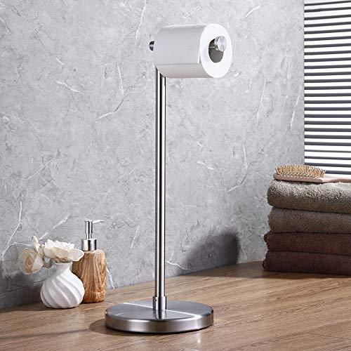 KES Stand Toilettenpapierhalter SUS 304 Edelstahl Badezimmer Stand-WC Papier Halter und Spender, freistehend, Geb¨¹rstet Fertig, BPH280S1-2