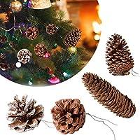 4 PCS Cono de Pino Natural Pino Árbol de Navidad Cono de Pino Decoración Colgante Tiros Props Decoración de Flores Secas Adornos Set