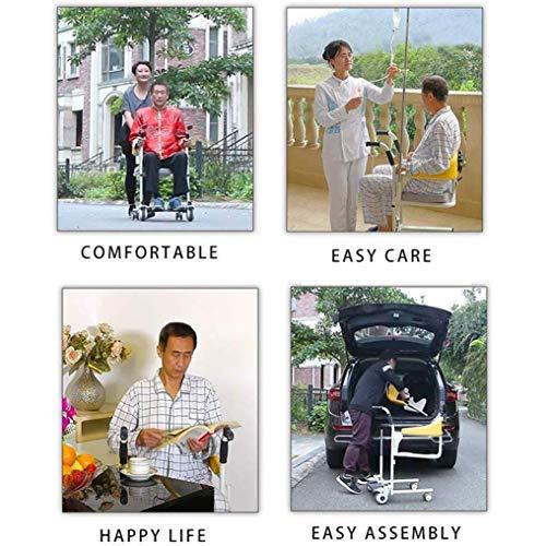 51cfUwP9H0L - YXP Elevador Multifuncional con Asiento de Inodoro, cojín, Silla de enfermería, baño, Paciente, Anciano, Silla de Ruedas de Transferencia para el Cuidado hospitalario en el hogar