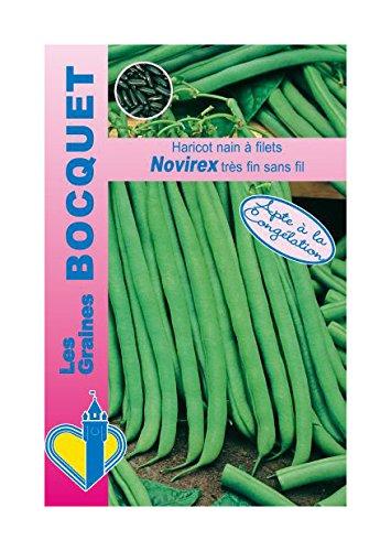 Les Graines Bocquet - Graines De Haricot Nain À Filet Novirex 60G - Graines Potagères À Semer - Sachet De 60Grammes