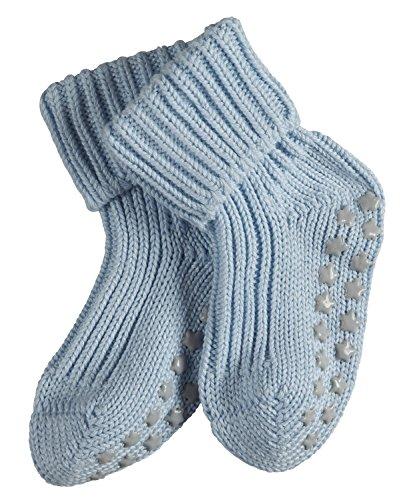 FALKE Babys Catspads Cotton B SO ABS Stoppersocken, Blickdicht, Blau (Powder Blue 6250), 74-80