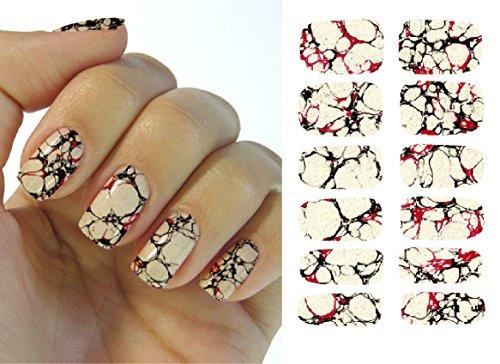 Feuille complète d'autocollant de transfert à l'eau pour l'art des ongles K5738 Nail Sticker Tattoo - FashionLife