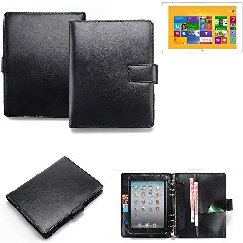 K-S-Trade Organizer und Tablet-Case-Kombination für Kiano Intelect 8.9 MS 3G mit Ringbucheinlage schwarz. Kunstleder Qualitätsware (1x)