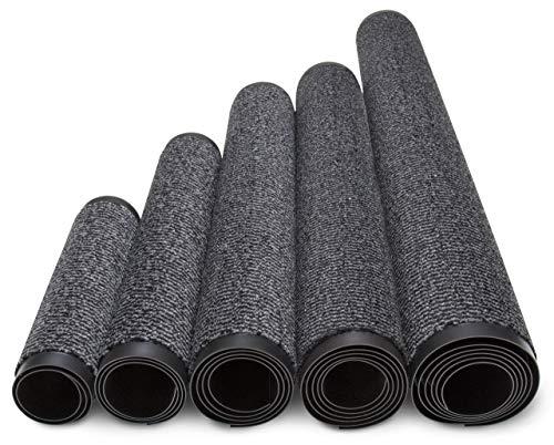 Jan Max Schmutzfangmatte - 5 Größen - Fußmatte für Innen und Außen - Sauberlaufmatte in dunkel grau anthrazit schwarz 90 x 150 cm