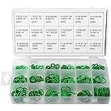 Juntas tóricas XCSOURCE 270 pzas. arandela de goma de nitrilo, sellos NBR, juego de 18tamaños en verde con una caja de plástico con autocierre TE487