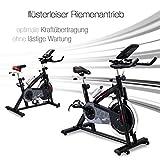 Sportstech Profi Indoor Cycle SX200 mit Smartphone App Steuerung + Google Street View, 22KG Schwungrad, Armauflage, Pulsgurt kompatibel – Speedbike mit flüsterleisem Riemenantrieb – Fahrrad Ergometer bis 125 KG - 5