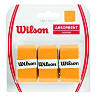 Wilson Unisex Adult Pro Soft Overgrip Grip - Gold, Pack of 3