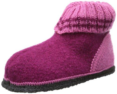 Beck Unisex-Kinder Ötzi Hausschuhe, Pink (bordeaux), 22 EU