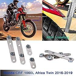 LoraBaber CRF1000L Zubehör Kotflügel vorne aus Edelstahl Riser Rising Kit hebt den Kotflügel an 15mm/0.59 inch für Honda CRF 1000L CRF 1000 L Africa Twin 2016 2017 2018 2019