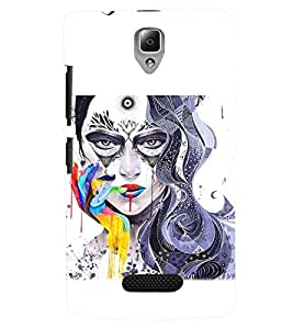 PRINTSWAG GIRL ART Designer Back Cover Case for LENOVO A2010