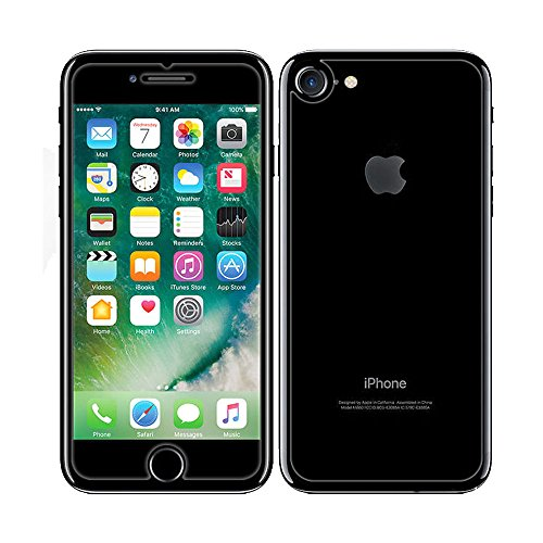 Price comparison product image iPhone 7 Front and Back Screen Protector, NXET® Front + Back Rear [9H Hardness 0.26 mm 2.5D] Premium Ultra-Clear Anti Scratch/Bubble Free Tempered Glass Cover for Apple iPhone 7 (iPhone 7)