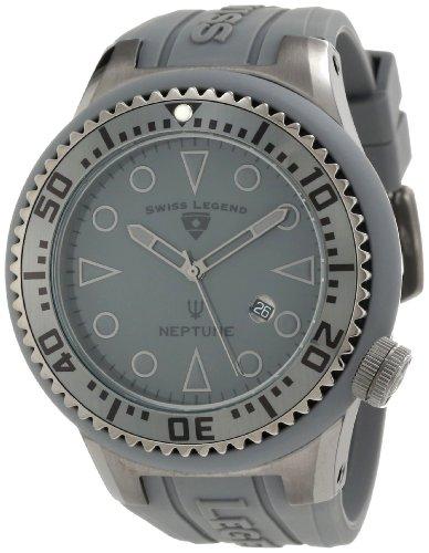 Swiss Legend - SL-21818D-PHT-14 - Montre Homme - Quartz Analogique - Cadran Gris - Bracelet Silicone Gris