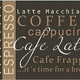 Küchenläufer 120×50 cm Kaffee Braun Coffee Küchenmatte Küchenteppich - 2