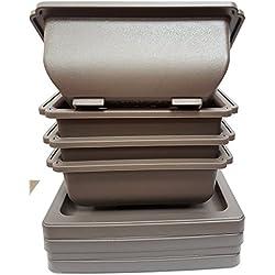 4x 15cm Kunststoff Bonsai Topf mit passendem Untertasse
