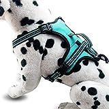 ZHANGZHIYUA Hundegeschirr ohne Zug, reflektierendes Westengeschirr mit 2 Leinenbefestigungen und einfachem Steuerhebel für kleine, mittelgroße Hunde,L