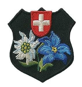 Costume-suisse brodé motif ecusson patch patch patch env. 5,2 x 5,5 cm