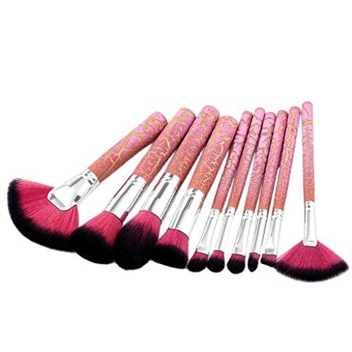 Sharplace Kit de Pinceaux Maquillage Professionnel 10pcs Brosse Ombre à Paupières Eyebrow Shadow Blush Fond de Teint Anti-Cerne