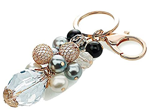 SaySure - Tassel Fringe Unique Beads Faux Pearl Keychain