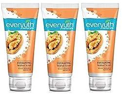 Everyuth Naturals Exfoliating Walnut Scrub with nano Multi Vit A 100g Pack of 3