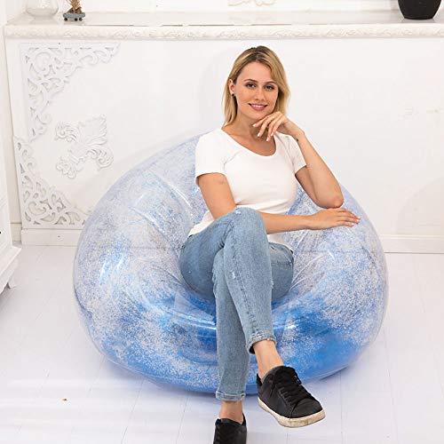 Poltrona gonfiabile glitterata, divano gonfiabile (glitter multicolore) - perfetto per camerette, sale giochi, dormitori, feste, interni ed esterni. facile configurazione e conservazione(100*100*85c