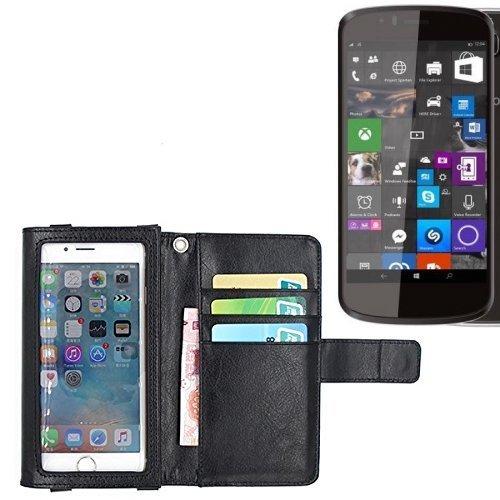 K-S-Trade Für Archos 50 Cesium Schutz Hülle Case mit Displayschutz/Schutzfolie Flip Cover Wallet case Etui Hülle für Archos 50 Cesium schwarz