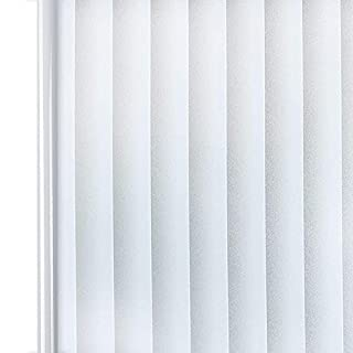Homein Privacy Frosted Window Film Blind Stripe Pattern 44.5x200CM, Self Adhesive Glass Frosting Film Static Cling Anti UV Reusable Opaque Blackout Vinyl Sticker Door Cover Bedroom Bathroom Office