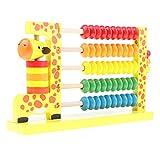 Homyl Holz Abakus Rechenrahmen Rechenschieber Lernspielzeug für Kinder, Multicolor