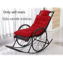 New day®-Invierno reclinable cojines silla mecedora cojín cojines cojines antideslizantes debajo de la silla rota cojines cojines de sofá , 45x125cm , new red