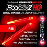 #8: ROCKSTIX 2 HD RED, BRIGHT LED LIGHT UP DRUMSTICKS, with fade effect, Set your gig on fire!