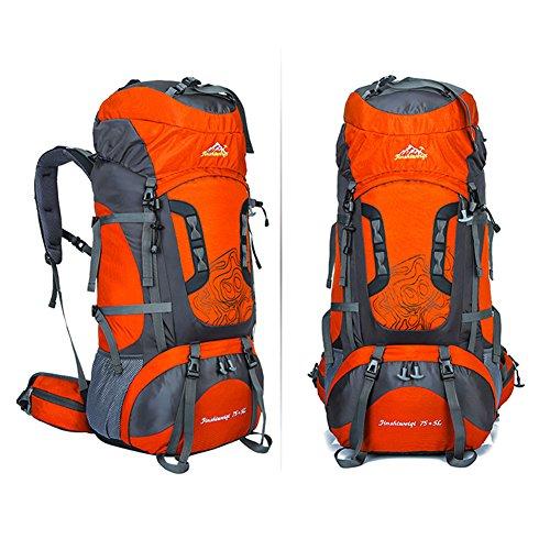 Fastar 80L Wasserdicht Outdoor Sport Hiking Trekking Camping Reise Rucksack Pack Bergsteigen Klettern Rucksack Orange